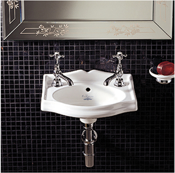 Whitehaus WHAR035WH China Small Wall Mount Lavatory Sink   White