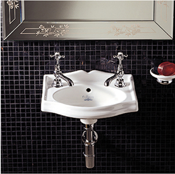 Whitehaus WHAR035WH China Small Wall Mount Lavatory Sink - White