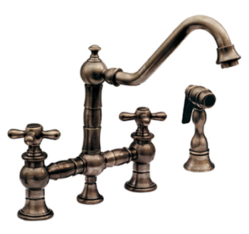 Kitchen Faucet Bronze Simple Whitehaus Whkbtcr39201Orb Vintage Iii Kitchen Faucet Two Cross Design Inspiration