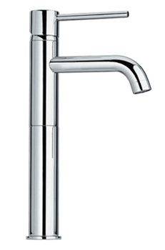 Whitehaus WHLX78205PC Luxe Single Hole/Single Lever Elevated Lavatory Faucet - Polished Chrome