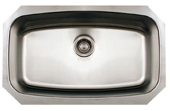 Whitehaus WHNCUS2917 Noah Undermount Kitchen Sink - Brushed Stainless Steel