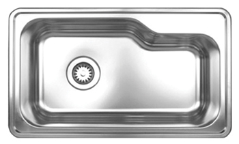 Whitehaus WHNDB3016 Noah Single Bowl Drop-In Sink - Brushed Stainless Steel