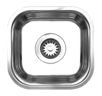 Whitehaus WHNU1212 Noah Single Bowl Undermount Sink - Brushed Stainless Steel