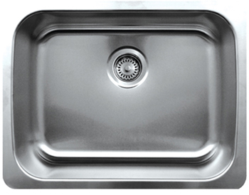 Whitehaus WHNU2318 Noah Single Bowl Undermount Sink - Brushed Stainless Steel