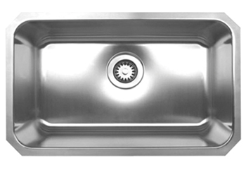 Whitehaus WHNU2816 Noah Rectangular Single Bowl Undermount Sink - Brushed Stainless Steel