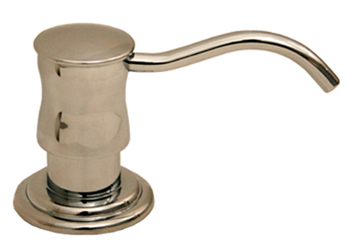 Whitehaus WHSD45NBN Vintage III Solid Brass Soap/Lotion Dispenser - Brushed Nickel
