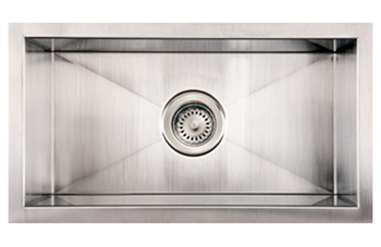 Whitehaus WHWINEHAUS Noah Commercial Single Bowl Undermount Sink - Brushed Stainless Steel