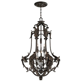 World Imports WI-4039-89 Salerno 12-Light Chandelier - Bronze