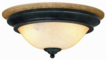 World Imports WI-6672-4212 Arezzo 2 Light Flush Mount - Rust With Gold
