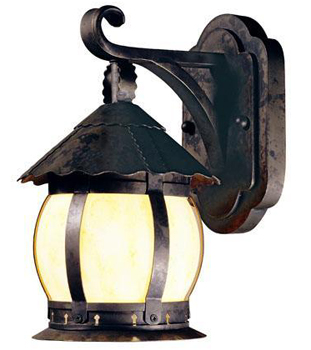 World Imports WI-1296-06 Carmel 1 Light Outdoor Wall Lantern - Flemish