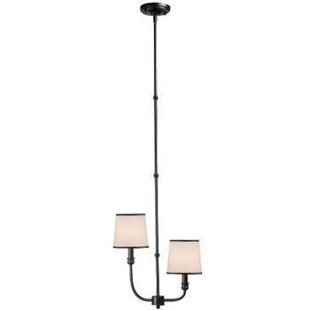 World Imports WI-1312-29 Brisbane 2 Light Mini Pendant - Euro Bronze