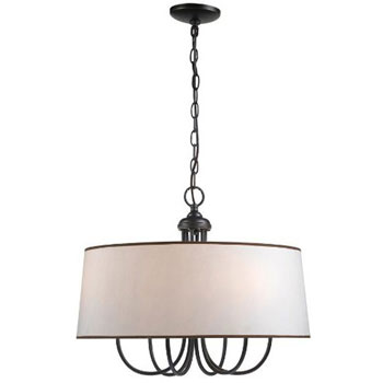 World Imports WI-1336-29 Brisbane 6 Light Inverted Pendant - Euro Bronze