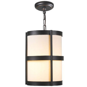World Imports WI-1432-29 Edmonton 1 Light Pendant With Shade - Euro Bronze