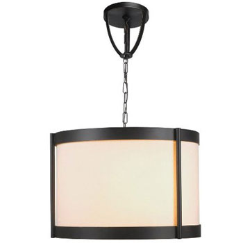World Imports WI-1434-29 Edmonton 9 Light Chandelier Pendant With Shade - Euro Bronze