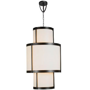World Imports WI-1436-29 Edmonton 16 Lights Chandelier With Shade - Euro Bronze