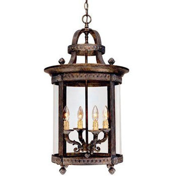 World Imports 1604-63 Chatham 4-Light Interior Lantern - French Bronze