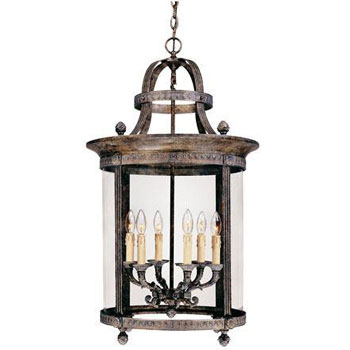 World Imports WI-1606-63 Luminous Lanterns 6 Light Hanging Lantern - French Bronze