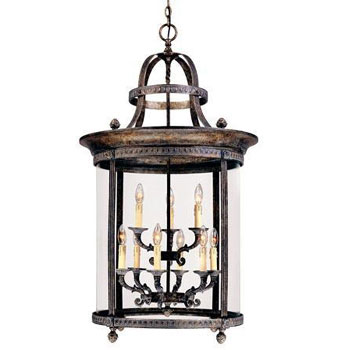 World Imports WI-1609-63 Luminous Lanterns 6 + 3 Light Hanging Lantern - French Bronze