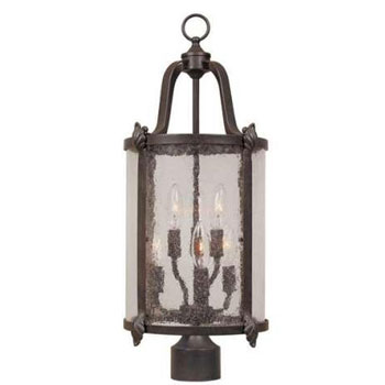 World Imports 1691-89 Old Sturbridge 6 Light Outdoor Post Light - Bronze