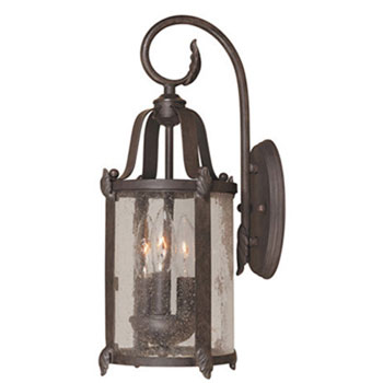 World Imports 1693-89 Old Sturbridge 4 Light Outdoor Wall Mount Lantern - Bronze