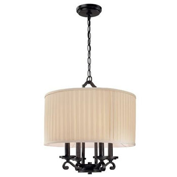 World Imports WI-2024-42 Canberra 4 Light Pendant - Rust