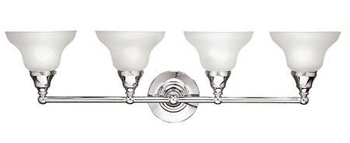 World Imports WI-2602-08 Bath 4 Light Bath Bar - Chrome