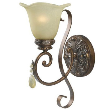 World Imports WI-4761-60 Catania 1-Light Wall Sconce - Oxide Bronze With Silver