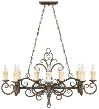 World Imports WI-5029-63 Sheffield 12-Light Chandelier - French Bronze