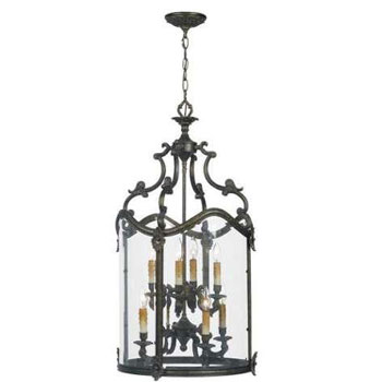 World Imports 5156-63 Venezia 8 Light Foyer w/ Clear Glass - French Bronze