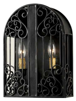 World Imports 5252-42 Sevilla 2 Light Indoor/Outdoor ADA Wall Sconce - Rust