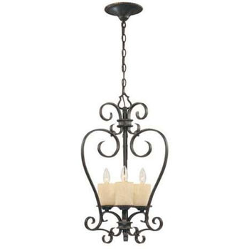 World Imports WI-5953-97 Stafford Spring 3-Light Lantern - Dark Antique Bronze