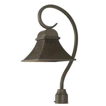World Imports 61305-06  Dark Sky Revere 1 Light Outdoor Post Light -  Flemish