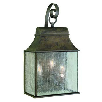 World Imports WI-61313-06 Revere 3 Light Exterior Wall Lantern - Flemish