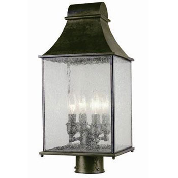 World Imports WI-61317-06 Revere 4 Light Exterior Post Lantern - Flemish