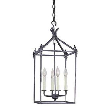 World Imports WI-61404-42 Classical Simplicity 4 Light Hanging Lantern - Rust