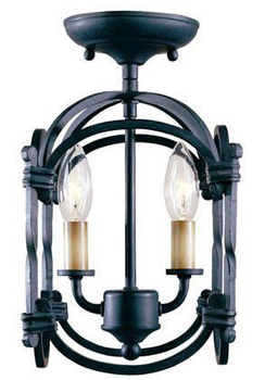 World Imports WI-61409-42 Classical Simplicity 2 Light Flush Mount Fixture - Rust