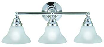 World Imports WI-70273-08 Bath 3 Light Bath Bar - Polished Chrome