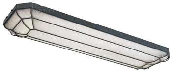 World Imports WI-7202-42 Fluorescent Rennes Linear Flush Mount Fixture - Rust