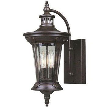 World Imports WI-74262-89 Old World Charm 2 Light Exterior Wall Lantern - Bronze