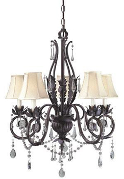 World Imports WI-751-62 Berkeley Square 5 Light Chandelier - Weathered Bronze