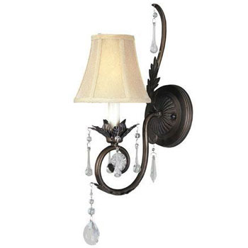 World Imports WI-754-62 Berkeley Square 1 Light Wall Sconce - Weathered Bronze