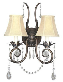 World Imports WI-755-62 Berkeley Square 2 Light Wall Sconce - Weathered Bronze