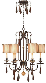 World Imports WI7646 Turin 6 Light Iron Chandelier - Euro Bronze