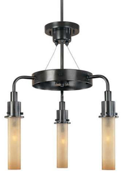 World Imports WI-7824-88 Luray 3-Light Down Chandelier - Oil Rubbed Bronze