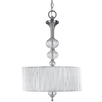 World Imports 8233-37  Beyond Modern 3 Light Inverted Pendant - Brushed Nickel
