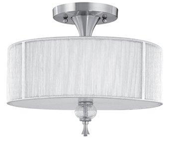 World Imports 8273-37 Beyond Modern 3 Light Semi Flush Fixture - Brushed Nickel