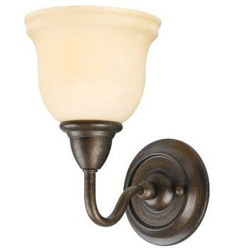 World Imports WI-8381-88 Montpellier 1 Light Bath With Glass Shade - Oil Rubbed Bronze
