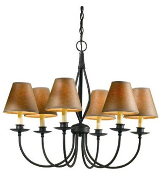 World Imports WI-8432-42 Urban Colonial 6 Light Chandelier - Rust