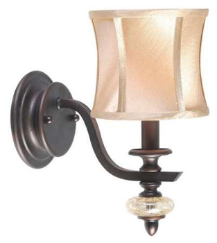World Imports 8561-56 Chambord 1 Light Iron Wall Sconce w/ Glass Ornament
