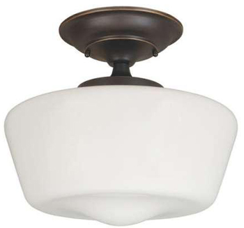 World Imports 9007-88 Luray 1 Light Semi-Flush -  Oil Rubbed Bronze